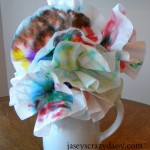 Coffee Filter Flowers and Butterflies: Kids Apply