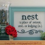 Nest {Framed Vinyl Glass Project And New Mantle Decor}