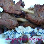 Sesame Ginger Beef Skewers