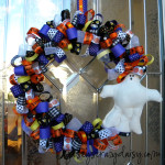 Halloween Ghost Ribbon Wreath