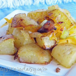 Cheesy Bacon Roasted Potatoes {Deconstructed Baked Potato Casserole}