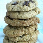 Flourless Peanut Butter Chocolate Chunk Oatmeal Cookies