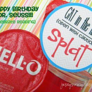 CAT in the HAT Jello Splat {Happy Birthday Dr. Seuss}