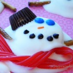 Melted Snowman Puddle Cookies {A Food Craft}