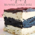 Tagalong Brownie Cookie Bars {Tagalong Brookies}