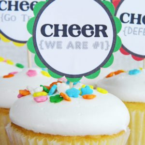 Team Spirit Printables for Team Moms {Bring Some Cheer to Your Team Snacks, Sidelines, and Treat Bags}