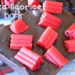 Red Licorice Chocolate Bark