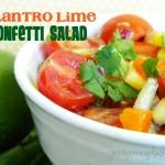 Tangy Cilantro Lime Confetti Salad
