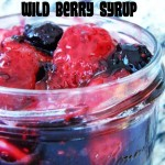 Wild Berry Syrup with Fresh Strawberries (and Giveaway for a Escape Monthly Spa Box (valued at $50))