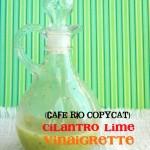 Cilantro Lime Vinaigrette {Cafe Rio Copycat}