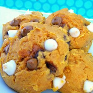 White Chocolate Cinnamon Chip Pumpkin Cookies (Super Easy Three or Four Ingredients)