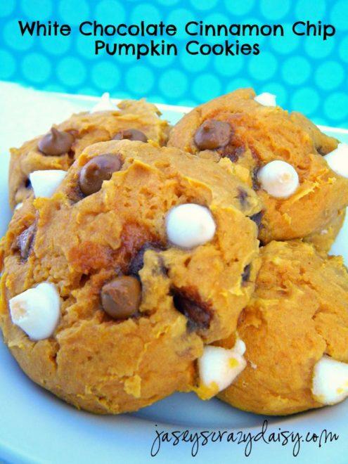 White Chocolate Cinnamon Chip Pumpkin Cookies (Super Easy Three or ...