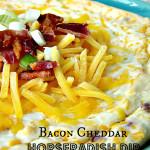 Cheddar Bacon Horseradish Dip