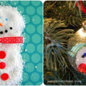 DIY Melted Snowman Ornament: Some People Are Worth Melting Over {Easy & Kids Friendly}