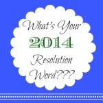 What's Your 2014 Resolution Word?