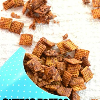 Butter Toffee Chex Mix {Christmas Crack Chex Mix}