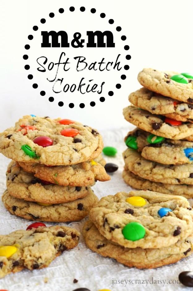 Homemade M&M Soft Batch Cookies