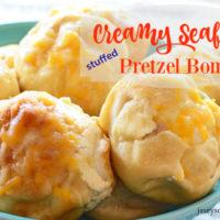 Creamy Seafood Stuffed Pretzels